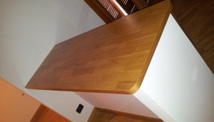 Tavolo cucina con parquet - Tavoli in legno da cucina - Falegnameria ...