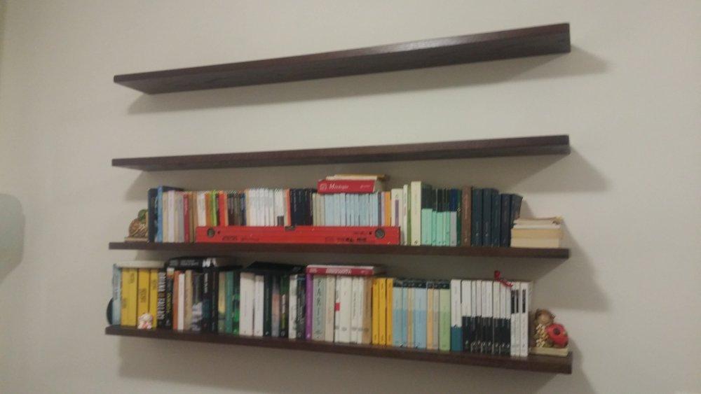 Libreria sospesa a parete librerie a giorno for Libreria a muro sospesa