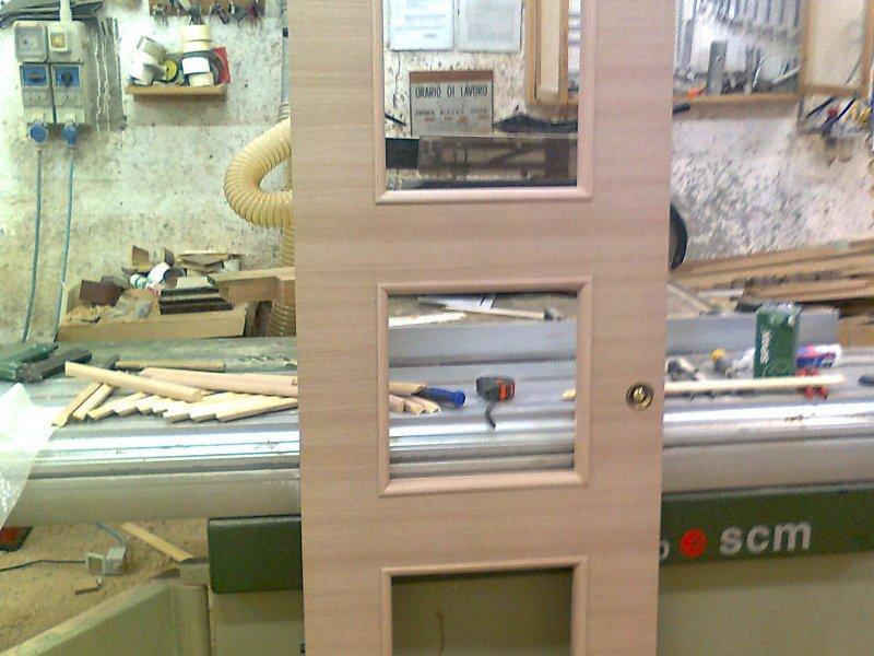 Porte in legno di rovere sbiancato laminato trasversale ...