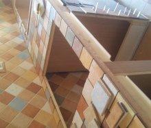 Cucina in legno in costruzione falegnameria roma - Costruzione cucina ...