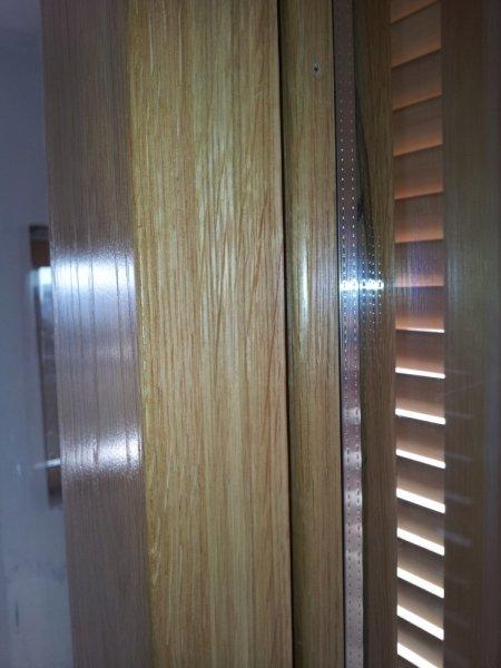 Finestre scorrevoli in lamellare di rovere con persiane in hemlock finestre in legno massello - Finestre con persiane ...