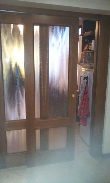 Porta scorrevole su misura in legno di noce porte per - Porta scorrevole su misura ...